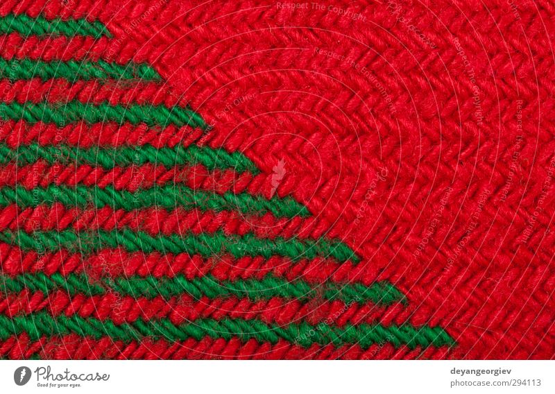 Handmade knit green and red background Design Handicraft Knit Winter Decoration Wallpaper Christmas & Advent Craft (trade) Fashion Sweater Ornament Stripe Retro