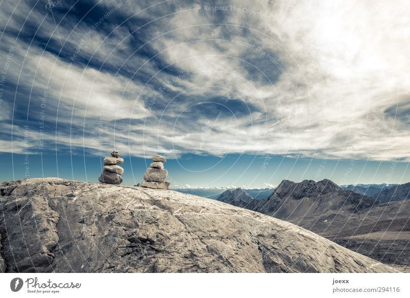 Sky Nature Blue Old White Sun Clouds Landscape Environment Mountain Freedom Brown Rock Leisure and hobbies Beautiful weather Elements