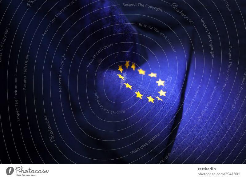 EU Cotton Blue brexite Design Euro Europe European flag Flag Wrinkles Yellow Cloth Gold Circle Star (Symbol) Symbols and metaphors Textiles Landmark
