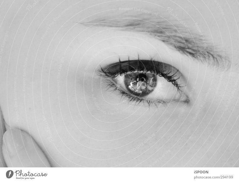 eye Elegant Style Beautiful Skin Face Human being Feminine Young woman Youth (Young adults) Eyes Fingers 18 - 30 years Adults Illuminate Make Looking Esthetic