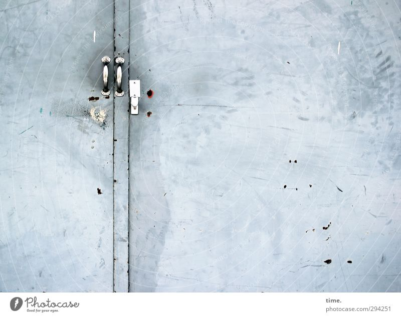 City Cold Gray Metal Door Dirty Closed Arrangement Broken Threat Safety Might Protection End Attachment Claustrophobia