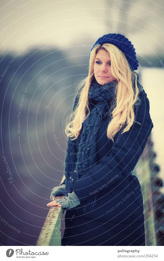 Human being Woman Nature Youth (Young adults) Blue Loneliness Winter Adults Life Feminine Emotions 18 - 30 years Dream Body Blonde Stairs
