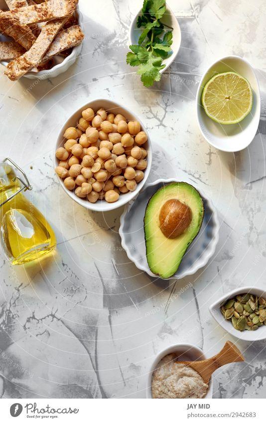 Avocado Hummus, recipe ingredients Vegetable Nutrition Eating Lunch Dinner Organic produce Vegetarian diet Diet Fasting Summer Fresh Green avocado Ingredients
