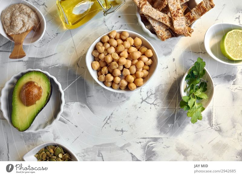 Avocado Hummus, recipe ingredients Food Meat Vegetable Nutrition Lunch Dinner Organic produce Vegetarian diet Diet Summer Fresh Green avocado Ingredients