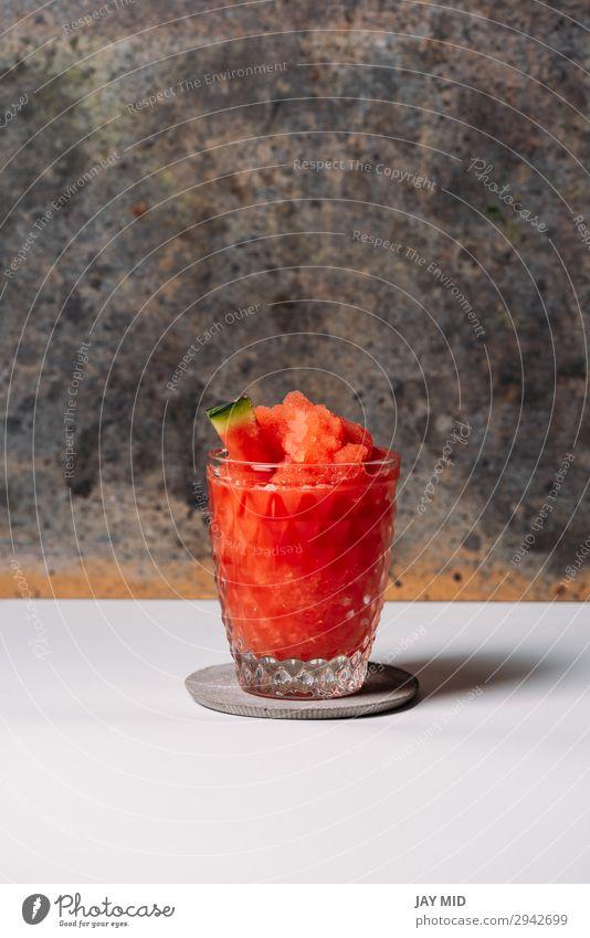 Frozen Watermelon Daiquiri Fruit Organic produce Vegetarian diet Diet Juice Alcoholic drinks Summer Fresh Red White daiquiri Water melon Cocktail Rum Home Sugar