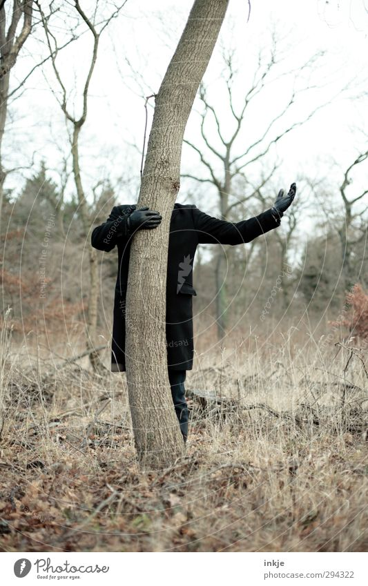 Human being Nature Man Hand Tree Joy Adults Environment Life Autumn Emotions Moody Body Arm Leisure and hobbies Stand