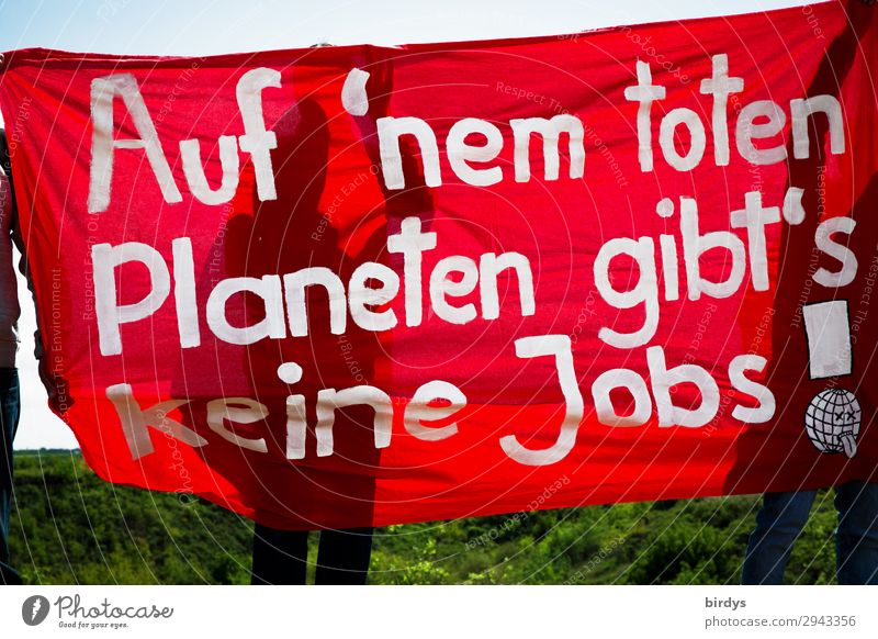 it's urgent - go to the polls Climate change Sign Characters Banner Movement Fight Communicate Authentic Rebellious Anger Red White Determination Responsibility