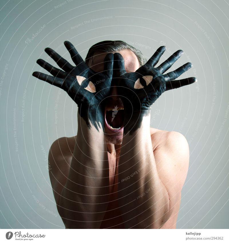 Cat Human being Man Hand Colour Animal Black Adults Eyes Head Art Masculine Arm Fingers Creativity Culture