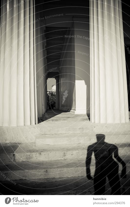 ...they have built us a monument... Tourist Attraction Landmark Monument Stand Old Esthetic Past Temple Statue Stairs Column Eternity Black & white photo