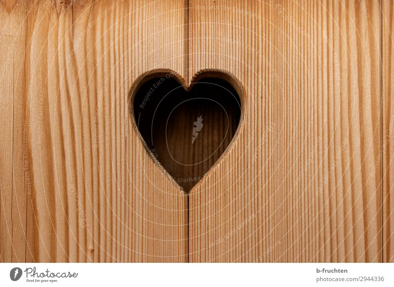 Heart-shaped hole in the wood Window Door Sign Love Wood Wooden board Structures and shapes Hollow Colour photo Exterior shot Close-up Deserted Day
