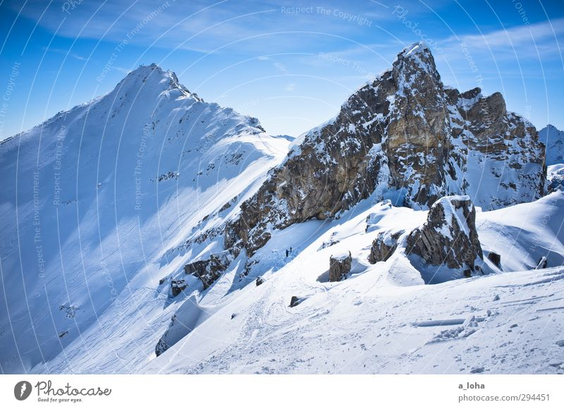 you and your heart Lifestyle Winter sports Skis Environment Nature Landscape Elements Sky Clouds Sunlight Beautiful weather Ice Frost Snow Rock Alps Mountain