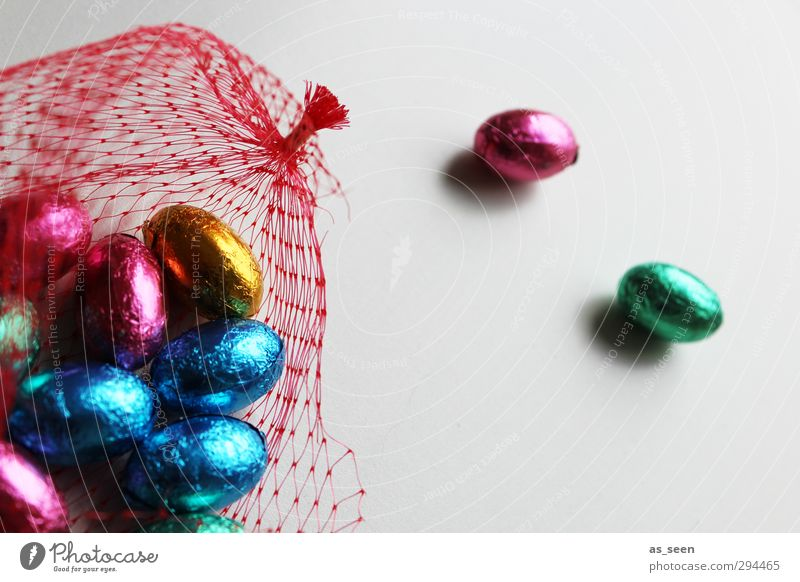 On the net Candy Chocolate Eating Feasts & Celebrations Easter Infancy Packaging Metal Net Network Glittering To enjoy Illuminate Esthetic Blue Multicoloured