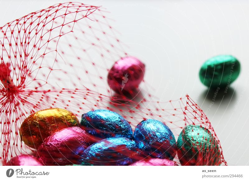 egg Candy Chocolate Eating Decoration Feasts & Celebrations Easter Infancy Packaging Metal Network Glittering To enjoy Esthetic Happiness Curiosity Round Sweet