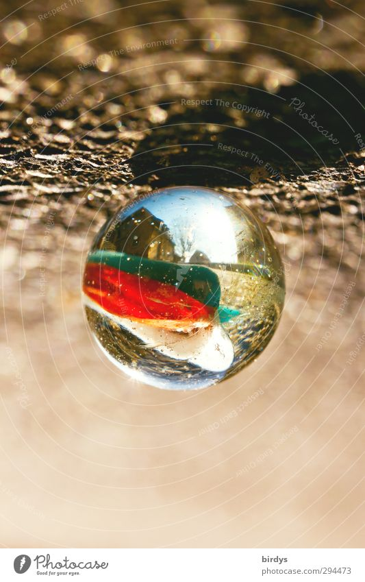 To keep the perspective... Art Glass ball Marble Illuminate Exceptional Fantastic Positive Round Creativity Puzzle Lens Toys Considerable Illusion Vista