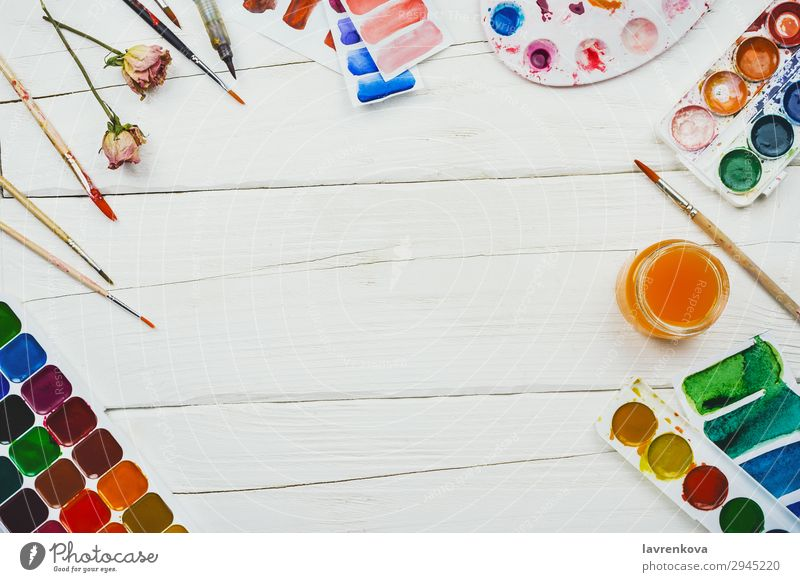 Background picture Wood Art Table Creativity Education Rose Painting and drawing (object) Desk Bud Drawing Top Artist Stationery Watercolors Designer