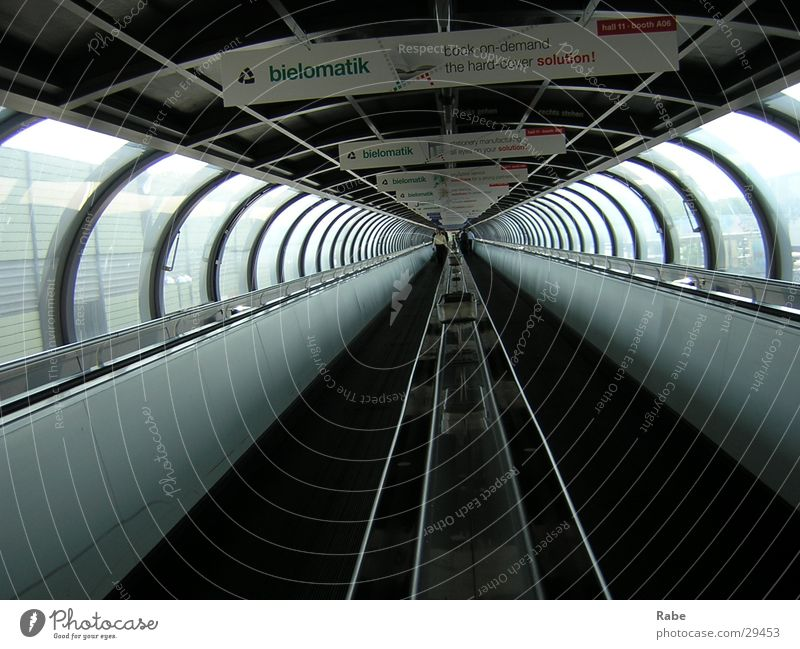 Architecture Tunnel Trade fair Duesseldorf Passage Moving pavement
