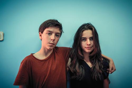 Portrait of two siblings Lifestyle Joy Calm Human being Masculine Feminine Young woman Youth (Young adults) Young man Family & Relations Friendship Couple 2