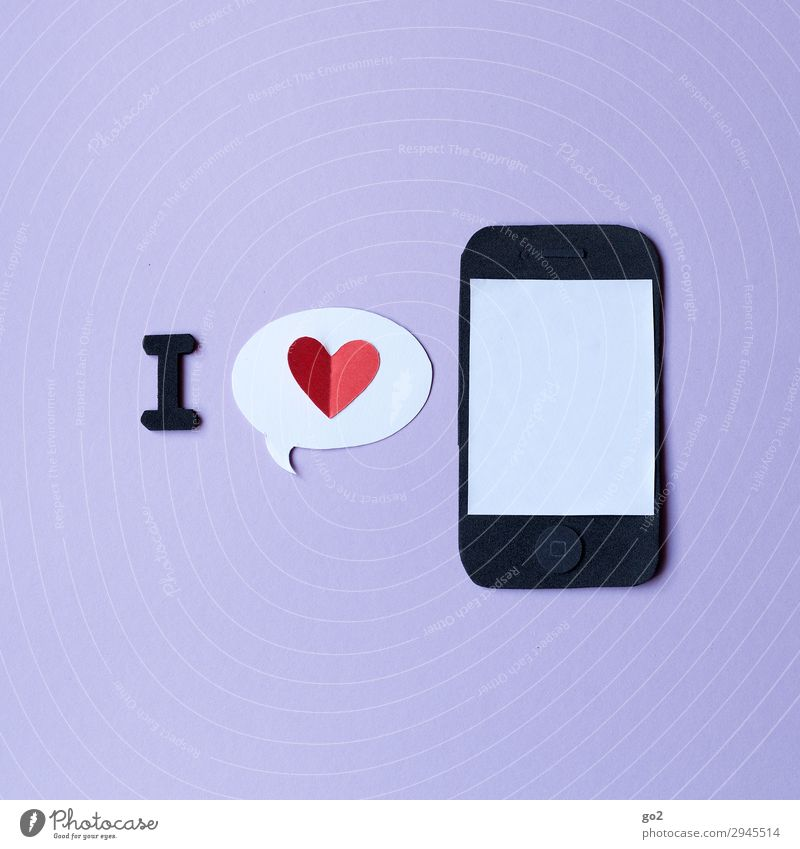 smartphone love Handicraft Cellphone PDA Technology Entertainment electronics Telecommunications Information Technology Internet Paper Sign Heart Society Trade