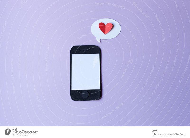 Digital Love Handicraft Telecommunications Cellphone PDA Technology Entertainment electronics Information Technology Internet Paper Sign Heart Speech bubble