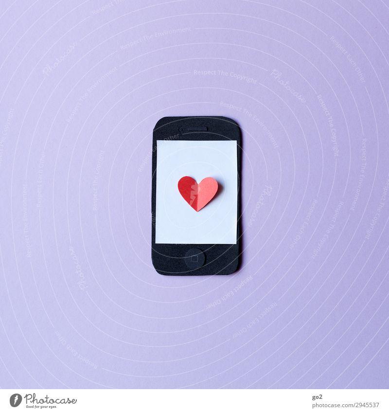 smartphone love Leisure and hobbies Handicraft Cellphone PDA Technology Entertainment electronics Information Technology Internet Sign Heart Advancement