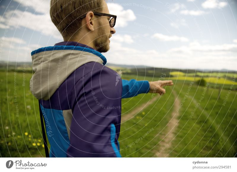 direction spring Lifestyle Style Healthy Well-being Vacation & Travel Tourism Trip Adventure Far-off places Freedom Hiking Human being Young man