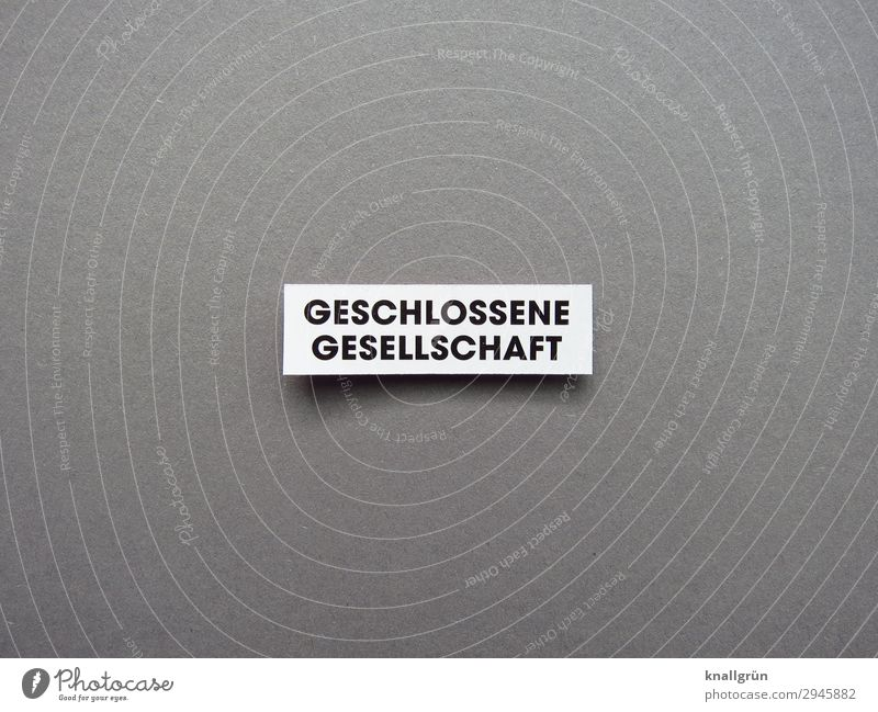 closed society Characters Signs and labeling Communicate Gray Black White Emotions Safety Protection Together Society Shielded Colour photo Studio shot Deserted