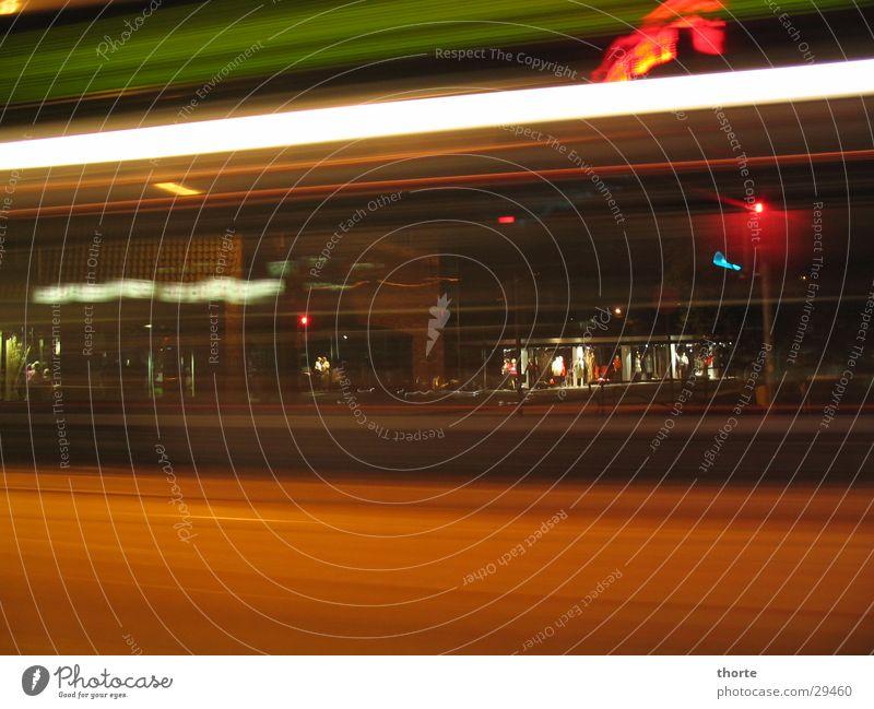 Red Transport Bus Traffic light Mixture