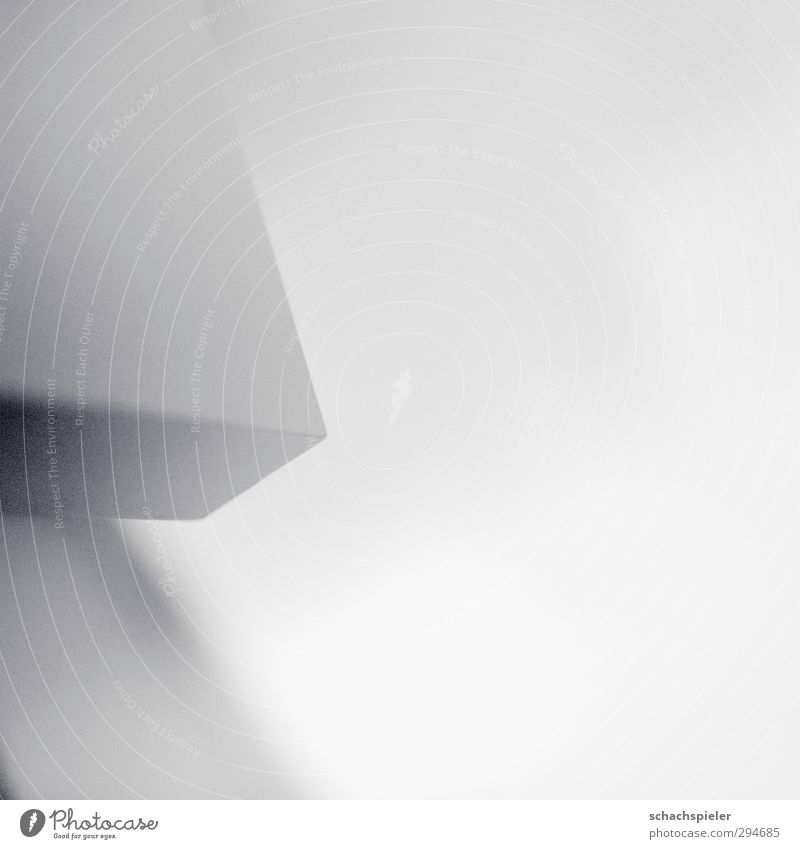 corner only 28mm Table Tabletop Corner Bright White Abstract Geometry Structures and shapes Gray Black & white photo Interior shot Light Shadow