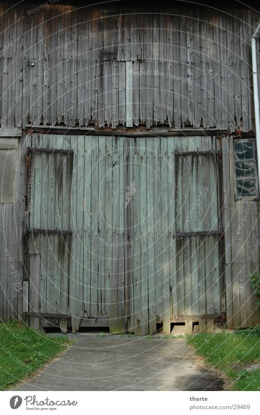 Old Green Wood Lawn Gate Barn Highway ramp (entrance) Brittle