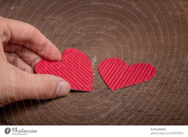 Two cardboard hearts Fingers Sign Heart Select Utilize To hold on Red Sympathy Friendship Together Love Infatuation Loyalty Romance Desire In pairs 2 Cardboard
