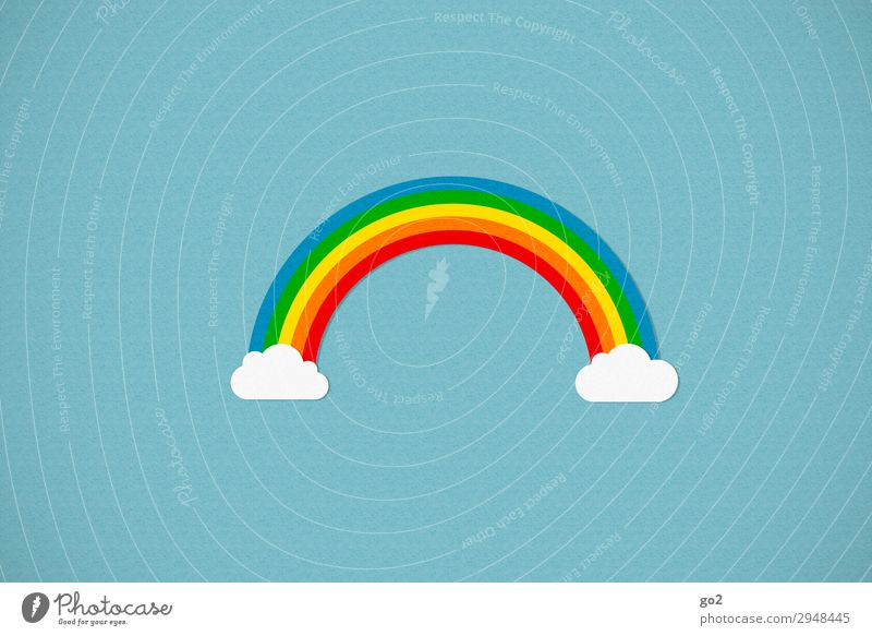 rainbow Clouds Climate Weather Beautiful weather Sign Esthetic Exceptional Happiness Multicoloured Joy Happy Contentment Joie de vivre (Vitality) Spring fever