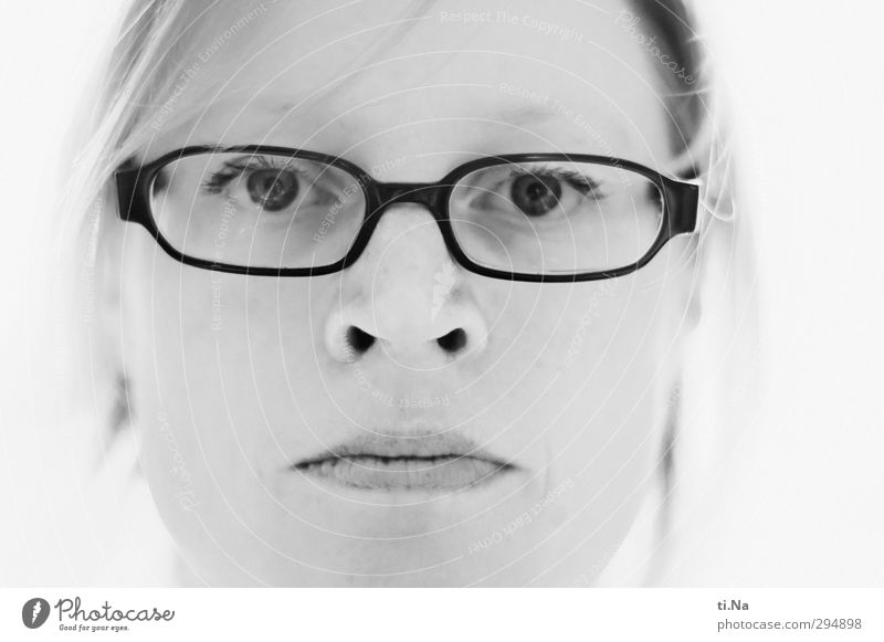 Woman White Black Adults Life Feminine Gray Head Bright Eyeglasses Silver Breathe Person wearing glasses 30 - 45 years