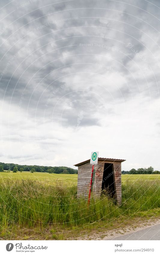 Stop in the void Far-off places House (Residential Structure) Landscape Clouds Horizon Weather Thunder and lightning Agricultural crop Field Village Hut