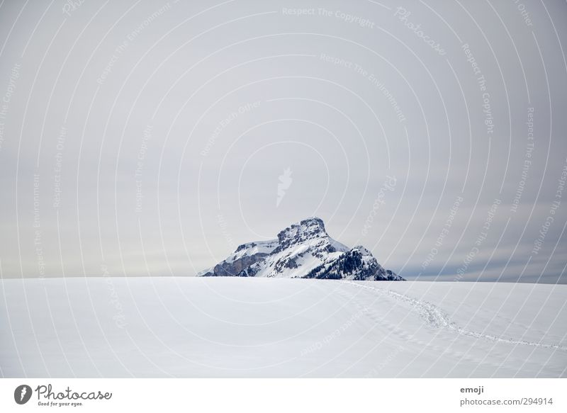 until then Environment Nature Landscape Sky Winter Snow Alps Mountain Peak Snowcapped peak Cold White Colour photo Exterior shot Deserted Copy Space top