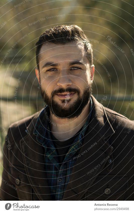 adult man portrait image Lifestyle Winter Human being Man Adults 30 - 45 years Jacket Esthetic Cool (slang) Hip & trendy Arabia berd bearded middle eastern