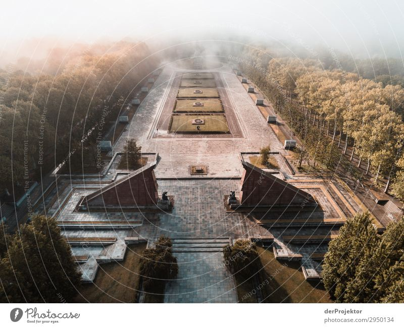 Soviet memorial in Treptow Vacation & Travel Tourism Trip Adventure Far-off places Freedom Sightseeing City trip Fog Manmade structures Building Architecture