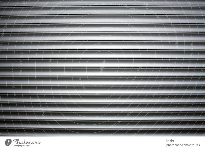 So one of these with no 15 Gate Line Stripe Long Parallel Garage door Disk Closed Across Vignetting Colour photo Subdued colour Exterior shot Close-up Abstract