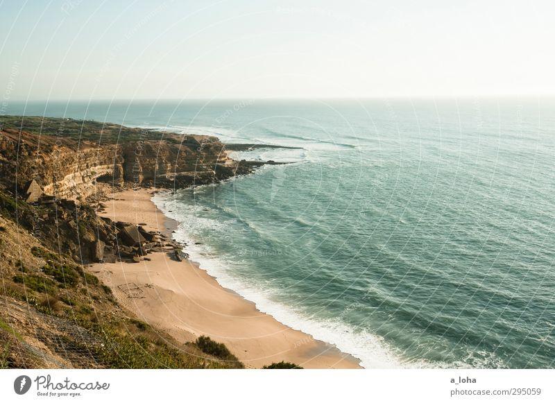 Sky Nature Blue Water Summer Ocean Landscape Beach Environment Far-off places Warmth Coast Sand Horizon Brown Rock