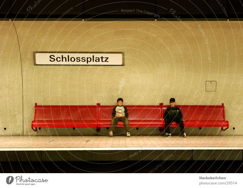 Child City Wait Transport Railroad Sit Station Underground Stuttgart