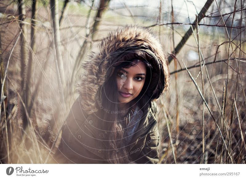 Human being Youth (Young adults) Beautiful Young woman Adults Feminine 18 - 30 years Common Reed Hooded (clothing)