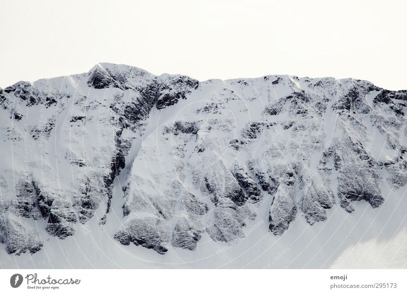 Sky Nature White Winter Environment Mountain Cold Snow Rock Alps Peak Snowcapped peak
