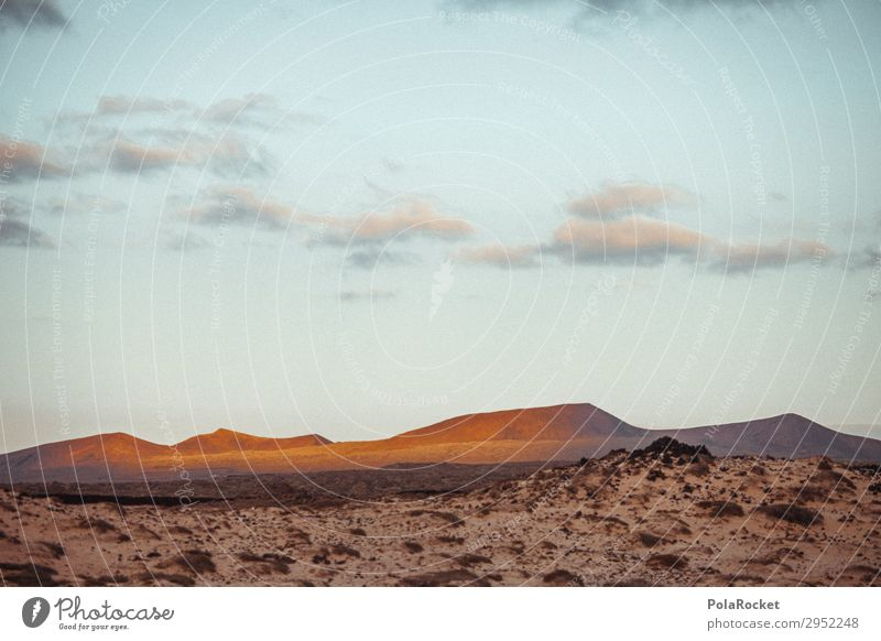 #A# golden land Art Esthetic Landscape Land Feature Landscape painting Fuerteventura Mountain Colour photo Subdued colour Exterior shot Detail Experimental