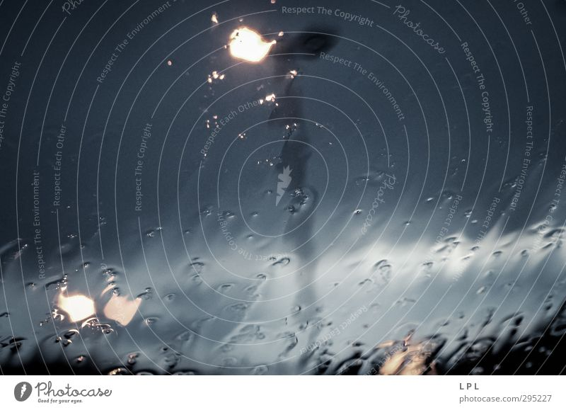 in case of rain in the car Town Means of transport Motoring Street Car Cold Wet Lantern Rain Drops of water Train window Car Window windy Colour photo
