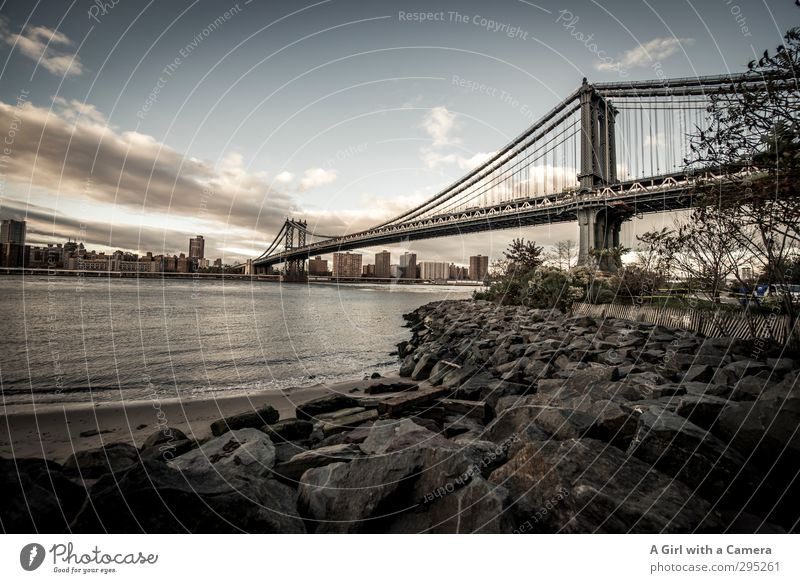 LOOKING BACK New York City Americas Town Port City Outskirts Populated Bridge Authentic Famousness Tall Long Strong Stability Massive Metal Framework