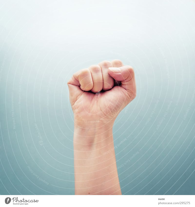 Standing with a fist Skin Success Arm Hand Fingers Sign Communicate Cool (slang) Simple Bright Hip & trendy Strong Brave Aggression Threat Force Thumb