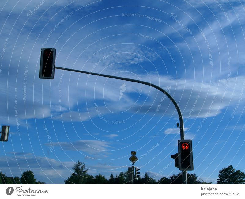 Sky Clouds Street Transport Traffic light Road sign