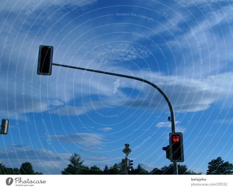 Sky Clouds Street Transport Traffic light Road sign