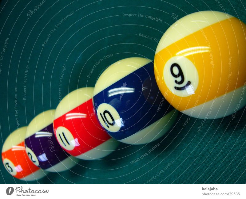 Sports Pool (game) Digits and numbers Sphere Half Snooker Billard bowle