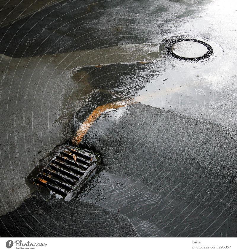 Water City Street Movement Dye Lanes & trails Stone Metal Rain Transport Arrangement Wet Concrete Change Asphalt Firm