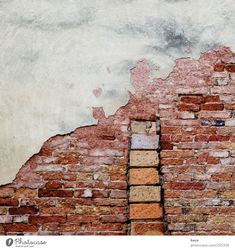 Stairway to heaven Redecorate House (Residential Structure) Building Wall (barrier) Wall (building) Stairs Facade Brick construction Stone Old Sharp-edged Brown